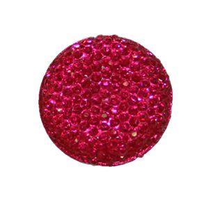 1piece x 25mm*25mm*5mm Diamond acrylic flat back hot pink colour -- round drop shape -- DAFB008