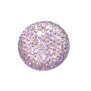 1piece x 25mm*25mm*5mm Diamond acrylic flat back lilac with AB coating colour -- round drop shape -- DAFB011