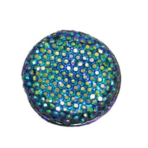 1piece x 25mm*25mm*5mm Diamond acrylic flat back Navy blue with AB coating colour -- round drop shape -- DAFB025