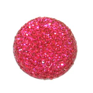 1piece x 25mm*25mm*5mm Diamond acrylic flat back pink colour -- round drop shape -- DAFB005