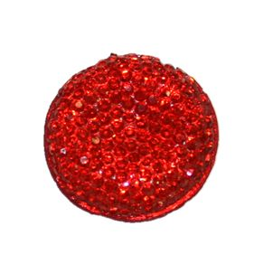 1piece x 25mm*25mm*5mm Diamond acrylic flat back red colour -- round drop shape -- DAFB007