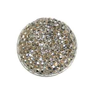 1piece x 25mm*25mm*5mm Diamond acrylic flat back silver colour -- round drop shape -- DAFB023
