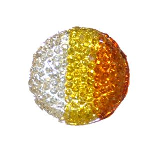 1piece x 30mm*30mm*7mm Diamond acrylic flat back clear-yellow-amber colour -- round drop shape -- DAFB024-30