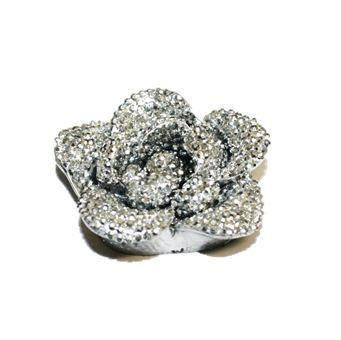 1piece x 40mm*40mm*13mm Acrylic bling flower flat back silver colour -- flower shape -- 5000017