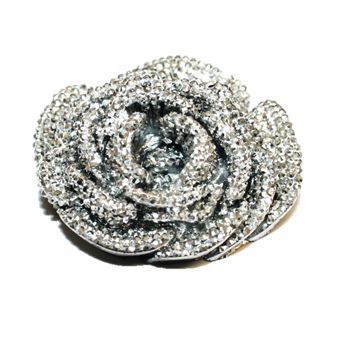 1piece x 43mm*43mm*21mm Acrylic bling flower flat back silver colour -- flower shape -- 5000019