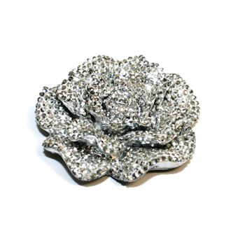1piece x 45mm*45mm*13mm Acrylic bling flower flat back silver colour -- flower shape -- 5000018