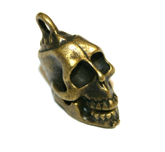 2 x Antique Brass Hinged Skull Charm - 24mm – S.F5 – WA205 - 1411031