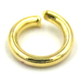 200pcs 7mm x 0.6mm Jump ring gold plated - C7003085