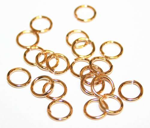 200pcs x 6*0.6mm champagne gold colour jump ring - C7003086