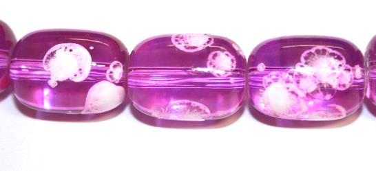 26pieces x 16mm*12mm Candy pink colour oval shape bubble gum glass beads / speckled glass beads -- 3005149