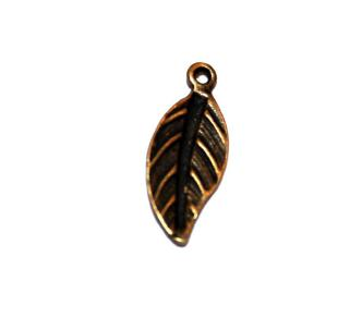 30 Pces x Antique Brass Leaves Alloy Charm #ACH0050 Size 20MM X 9MM