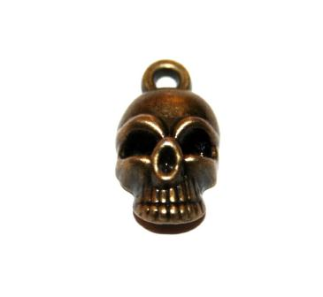 4 Pces x Antique Brass Skull Alloy Charm #ACH0036 Size 21MM X 11MM