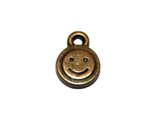 40 Pces x Antique Brass Face Alloy Charm #ACH0048 Size 12MM X 9MM