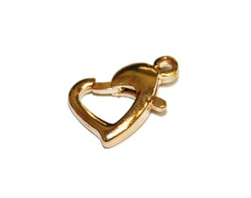 4pcs X 12MM Champagne gold / rose gold heart clasps - S.F - WC190 - 4000011