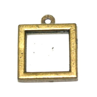 5 x Antique Brass Photo Frame Charm Size: 17 x 17mm - S.F5 – WA204 - 1411043