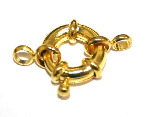 5pcs Gold plated ring Clasps 13mm - S.F05 - 2502049