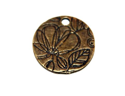 8 Pces x Antique Brass Disc Alloy Charm #ACH0032 Size 25MM X 25MM