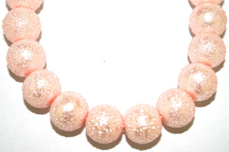 8mm Baby Pink Glass Blister Moon Pearls- 110 pces