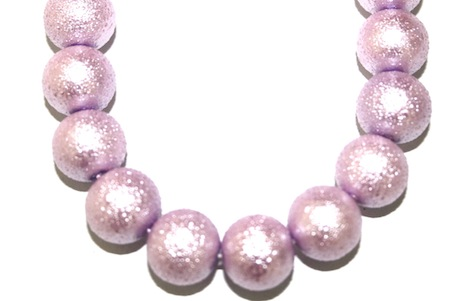 8mm Lilac Glass Blister Moon Pearls- 110 pces