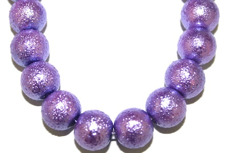 8mm Purple Lilac Glass Blister Moon Pearls- 110 pces
