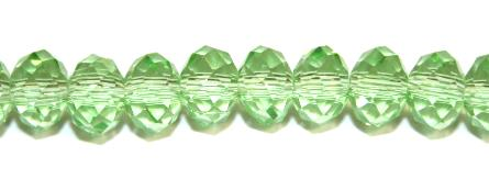 98pcs x 6mm Light green faceted glass rondelle beads -- S.G06 -- 3005617