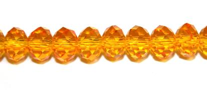 98pcs x 6mm Orange faceted glass rondelle beads -- S.G06 -- 3005609