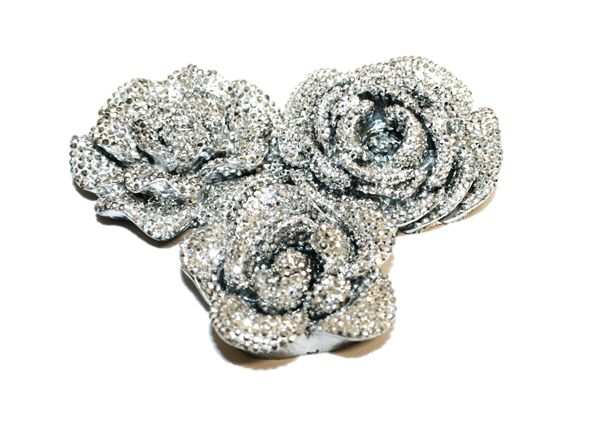 Acrylic bling flowers flat back