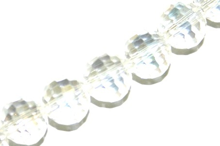 Clear AB 10mm Round 96 Facets Glass Beads x 72 Pces