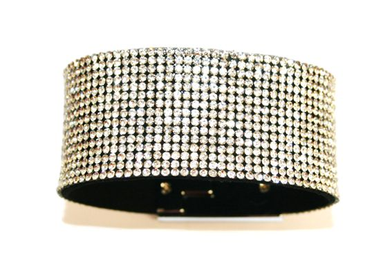 Diamante crystal bling cuff bracelet kit - Clear -- c4009001kit
