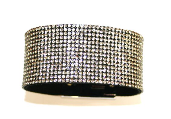 Diamante crystal bling cuff bracelet kit - grey -- 5000050kit
