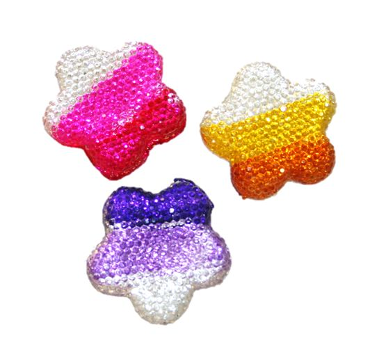 Diamond acrylic flat back -- flower shape range 15mm x 15mm x 4mm