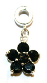 Flower Charm And Carrier In Black