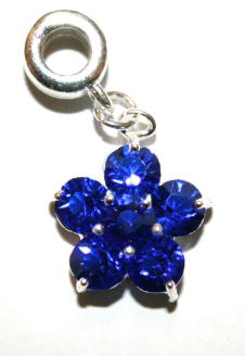 Flower Charm And Carrier In Royal Blue