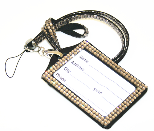 Grey bling Lanyard with ID Badge