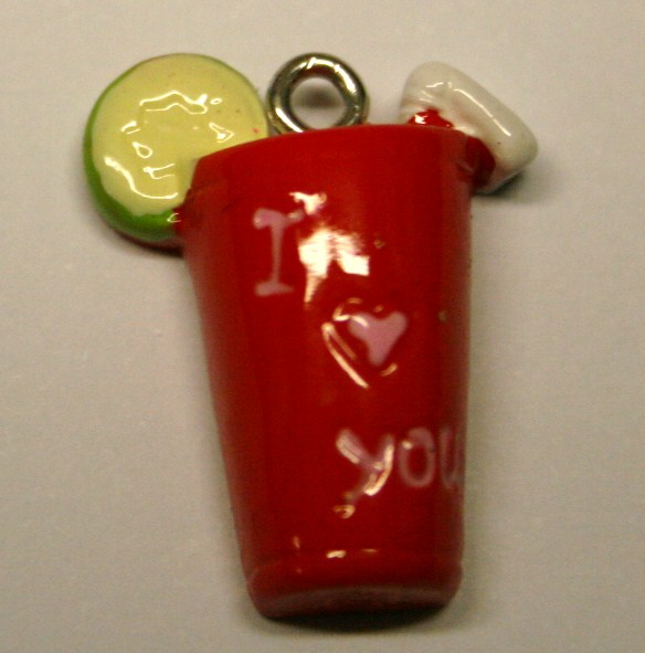 ILY RED DRINK FOOD CHARM 20MM X 10MM CHFD1034