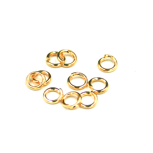 Jump rings - champagne gold colour