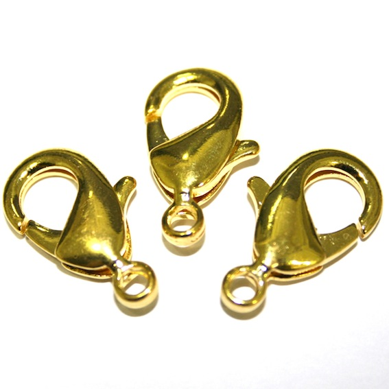 Lobster Clasps - Gold Plated Clasps - Traditional Gold Colour Finish
