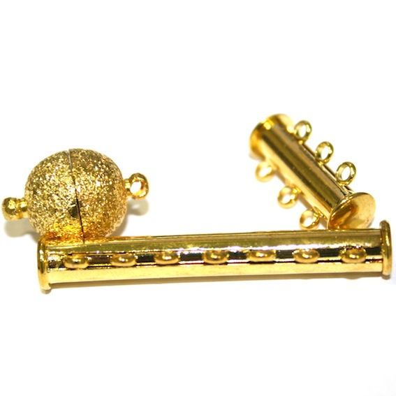 Magnetic Clasps - Gold Plated Clasps - Traditional Gold Colour Finish