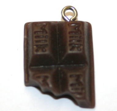 MILK CHOCOLATE FOOD CHARM 20MM X 15MM CHFD1018