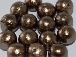 Miyuki cotton pearls 8mm - bronze j689 - 5 beads