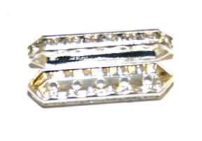 Rhinestone spacer bars
