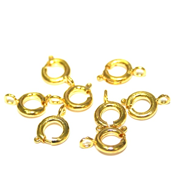 Ring Clasps - Gold Plated Clasps - Traditional Gold Colour Finish