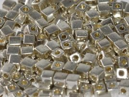 SB1051 SQUARE BEADS 3 MM GALVANIZED SILVER (15 grams)
