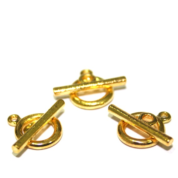 Toggle Clasps - Gold Plated Clasps - Traditional Gold Colour Finish
