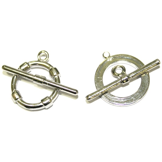 Toggle Clasps - Rhodium Plated